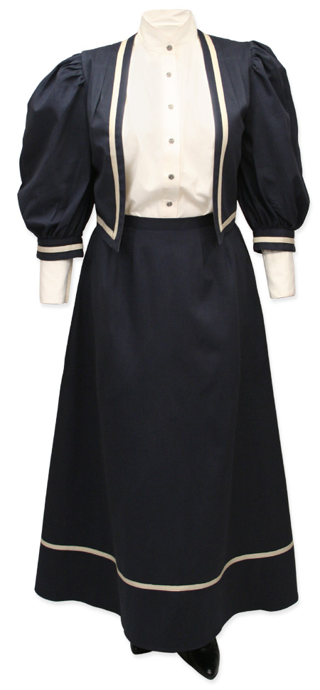 1800s Ladies Blue Solid Suit | 19th Century | Historical | Period Clothing | Theatrical || Ladies Edwardian Suit - Navy