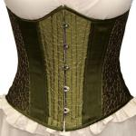 Victorian,Old West,Steampunk, Ladies Corsets Green Synthetic,Satin Print Corsets |Antique, Vintage, Old Fashioned, Wedding, Theatrical, Reenacting Costume |
