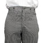 Victorian,Old West, Mens Pants Black Cotton Stripe Dress Pants,Work Pants |Antique, Vintage, Old Fashioned, Wedding, Theatrical, Reenacting Costume |