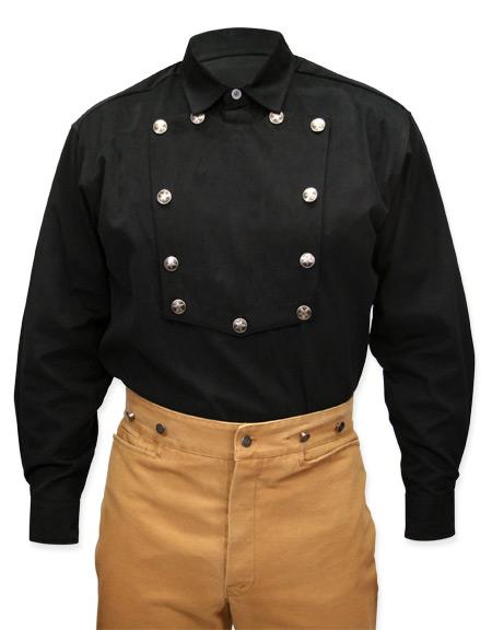Brushed twill longhorn shirt black for Brushed cotton twill shirt
