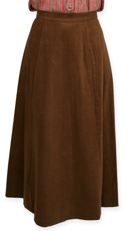 Brushed Twill Gibson Girl Skirt Brown