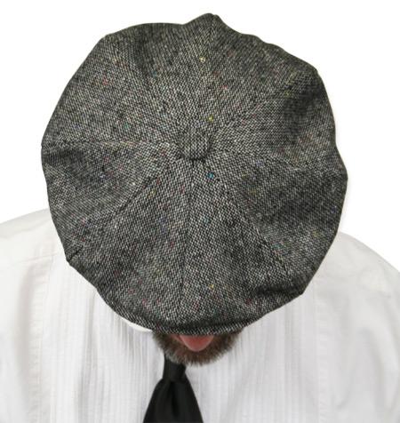 Newsboy Cap - Gray Wool Tweed cad5280b045