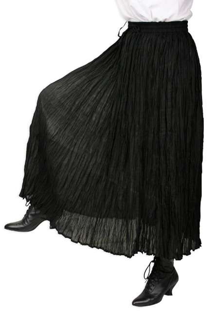 Black Broomstick Skirt 78