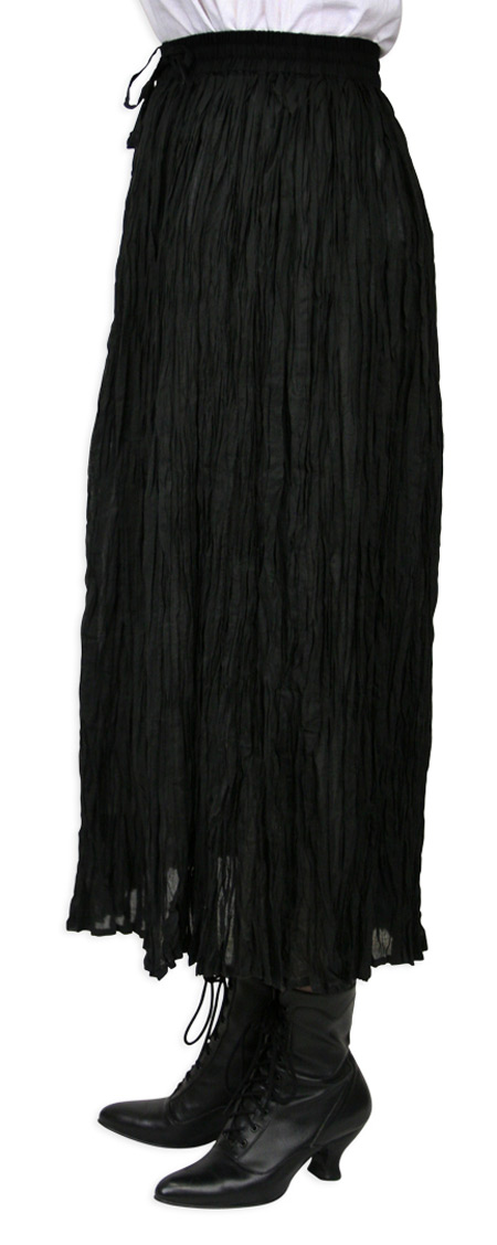 Black Broomstick Skirt 60