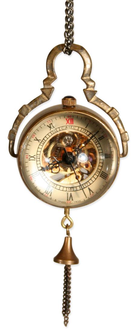 Mechanical Globe Watch Antique Gold Unisex