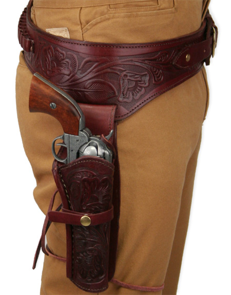 (.44/.45 cal) Western Gun Belt and Holster