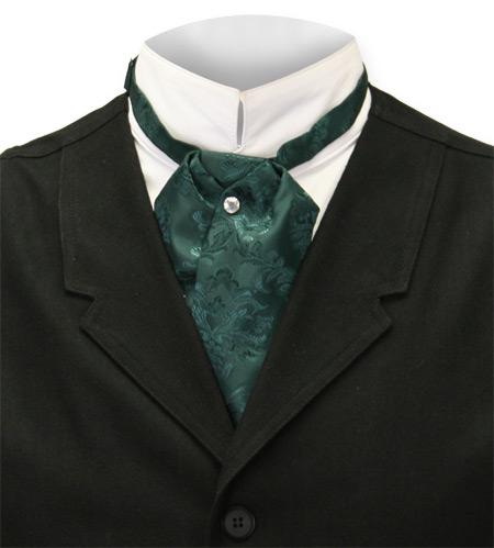 Satin Puff Tie Green Emerald Isle