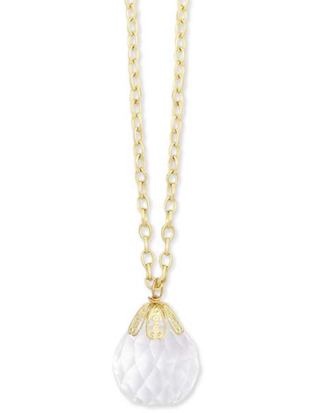 Wedding Ladies Gold Alloy Necklace | Formal | Bridal | Prom | Tuxedo || Charm Necklace - 40in. Gold tone w Ball Pendant