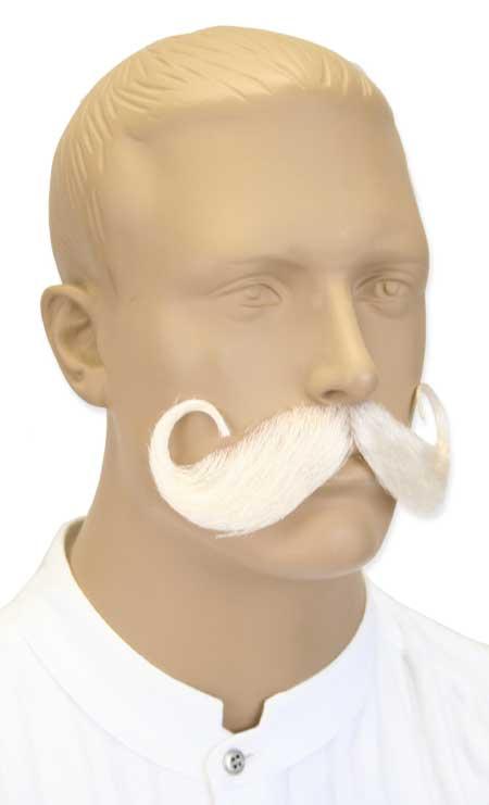 Handlebar Mustache - White f7ec83d62
