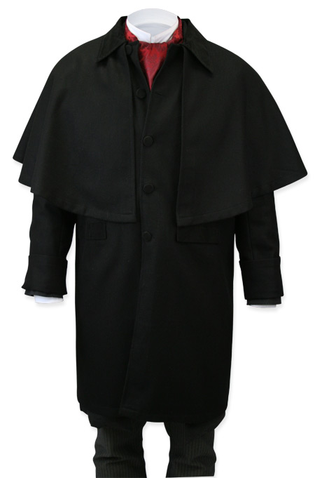 Coburn Great Coat - Black Wool