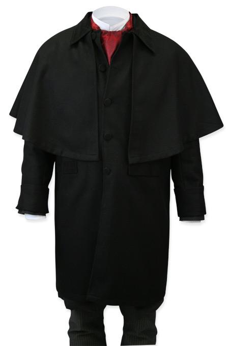 Coburn Great Coat - Black Wool