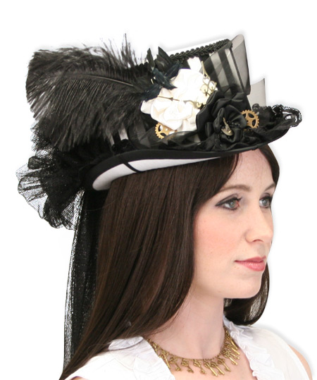 Riding Hat - Black and White Stripe b2f3a9c0618