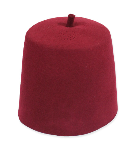 Vintage Mens Burgundy,Red Wool Felt Fezze | Romantic | Old Fashioned | Traditional | Classic || Fez - Burgundy Wool Felt