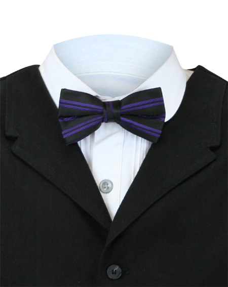 0c9fc9924ad7 Victorian Mens Purple Stripe Bow Tie | Dickens | Downton Abbey | Edwardian  || Bow