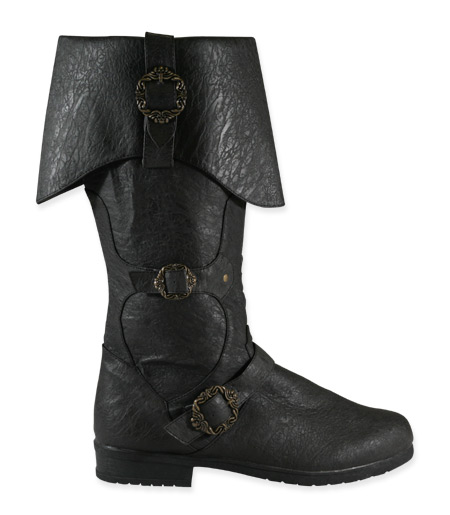 Brigand Boot Black Faux Leather