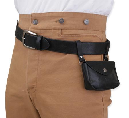 vanguard leather utility belt black