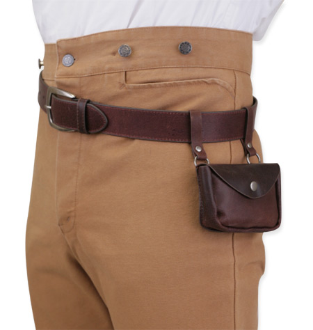 vanguard leather utility belt brown