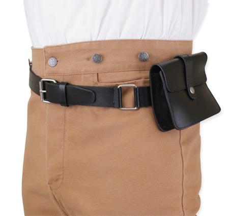trekker leather utility belt black