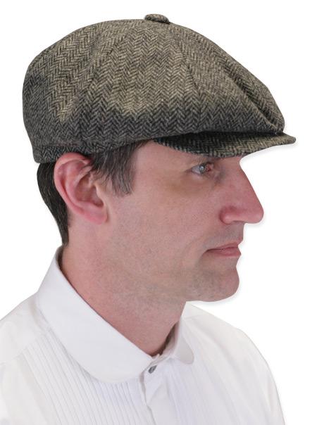 Newsboy Cap - Gray Wool Herringbone 4bddf955ffa