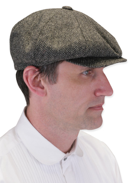 Newsboy Cap - Gray Wool Herringbone f50392ce007
