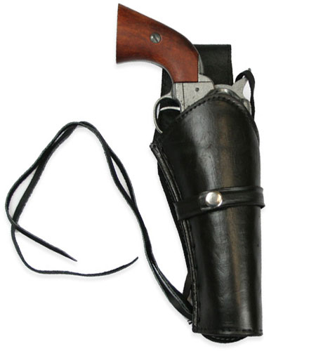 Wedding Mens Black Leather Un-Tooled Holster | Formal | Bridal | Prom | Tuxedo || Western Holster - RH Draw - Plain Black Leather