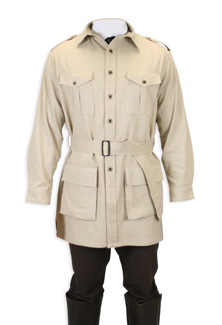 Deluxe Safari Bush Jacket Khaki