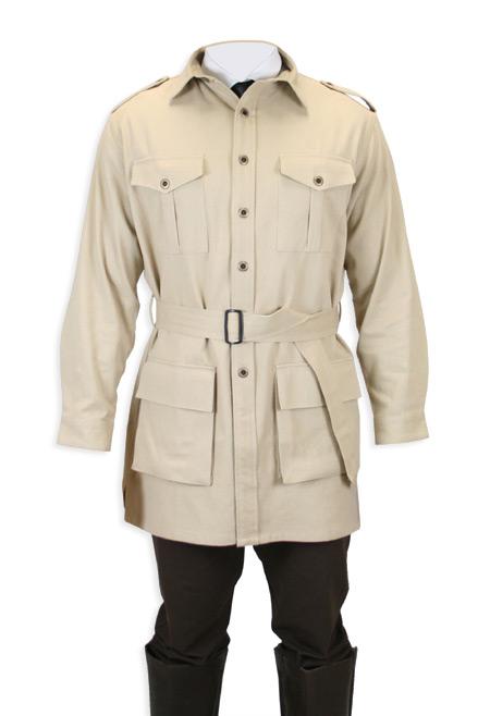 Deluxe Safari Bush Jacket Khaki