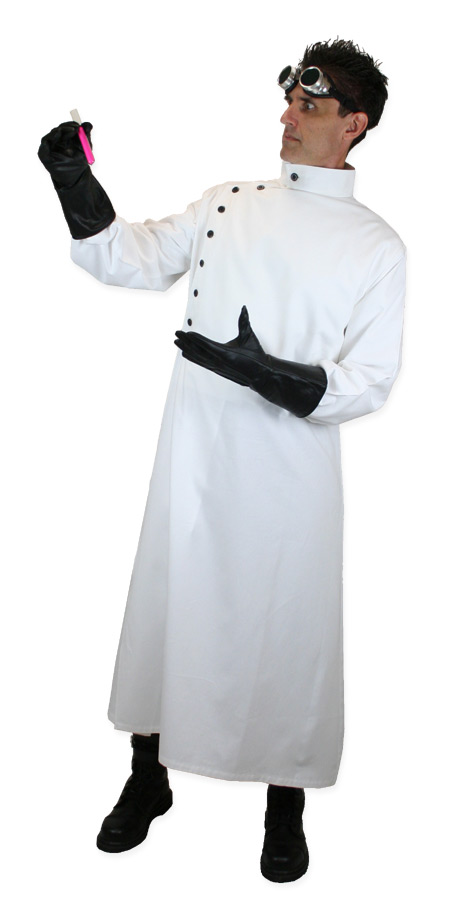 mad scientist howie lab coat white