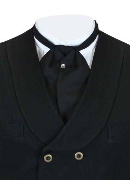matte black puff tie