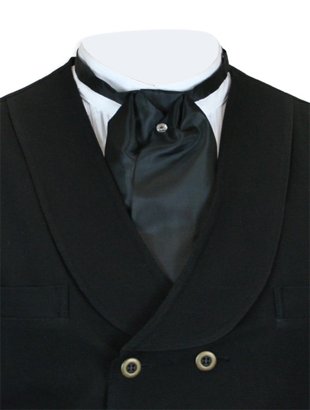 black satin puff tie
