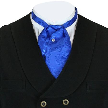 satin puff tie blue tahoe