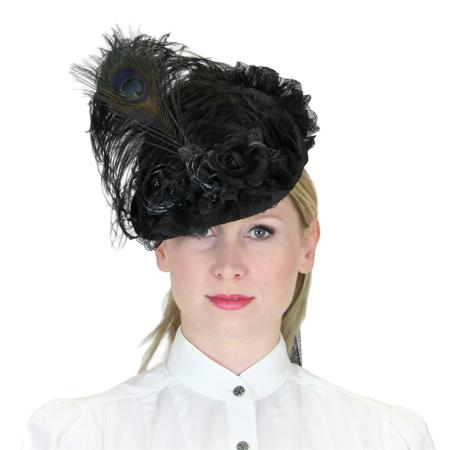 Victorian Ladies Hat - Black 82e8339ae894