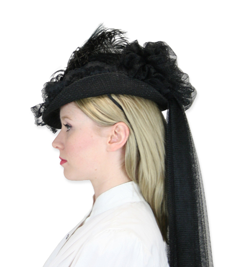 cf991089e Victorian Ladies Hat - Black