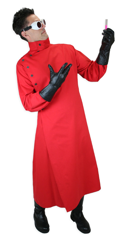 Mad Scientist Howie Lab Coat - Red