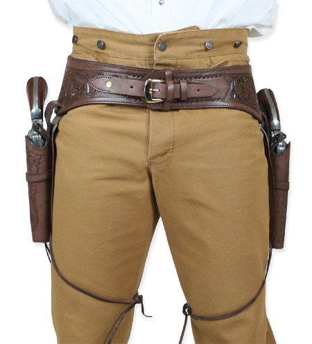 44 45 cal western gun belt and holster