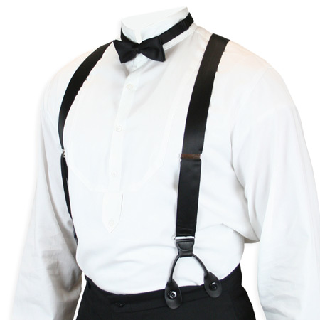 Suspenders in Stock is proud to be your source when it comes to suspenders for men. Whether you are looking for classy silk braces or for sturdy casual suspenders for work that will give you the extra support you need, you are sure to find a wide selection of high quality suspenders here.