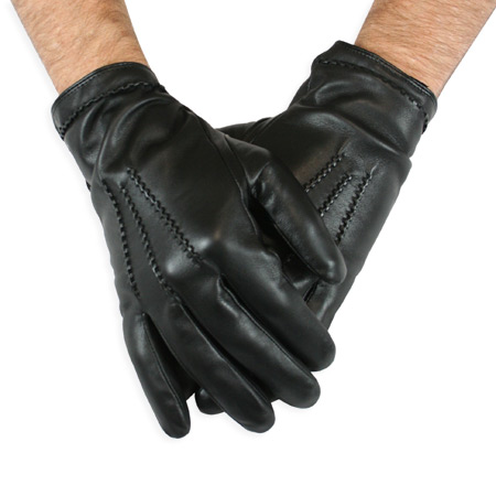 Black Leather Dress Gloves Mens Iucn Water