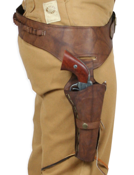 44 45 cal western gun belt and holster rh draw
