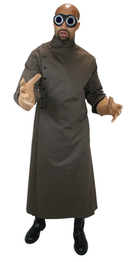 mad scientist howie lab coat brown