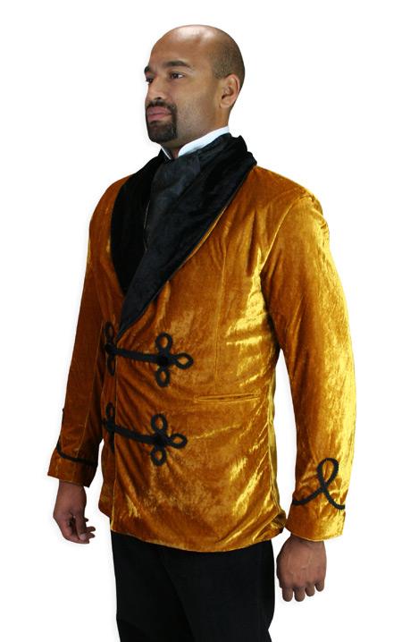 Vintage velvet smoking jacket