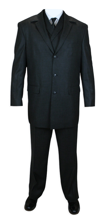 Hancock 3 piece suit - Black
