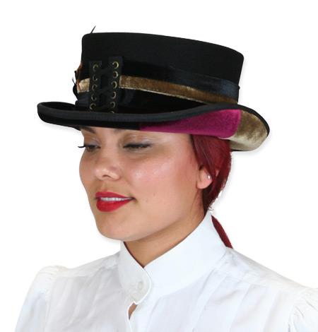 dcb62f158a8a5 Ladies Riding Hat - Velvet Stripe