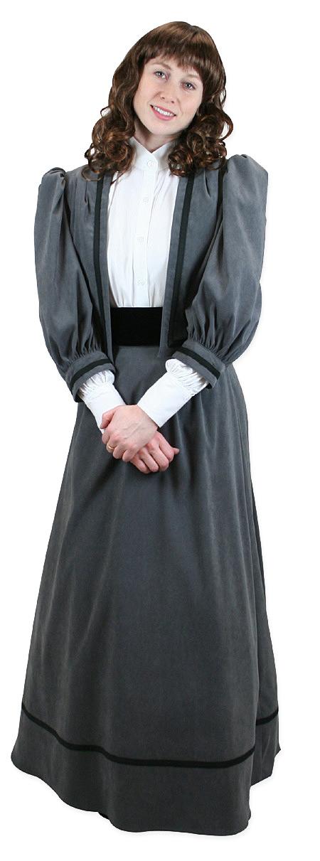 Ladies Edwardian Suit - Gray Moleskin