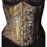 Victorian,Old West, Ladies Corsets Gold,Silver Synthetic,Satin Floral Corsets |Antique, Vintage, Old Fashioned, Wedding, Theatrical, Reenacting Costume |