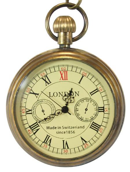 Open Face Mechanical Pocket Watch Antique Gold