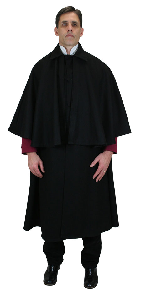 Inverness Cloak Black Wool