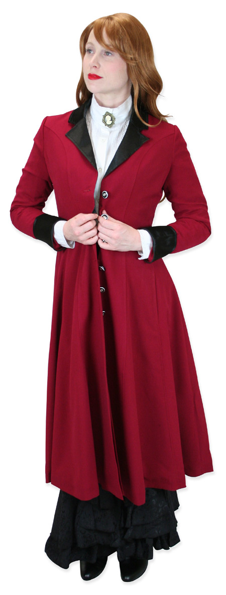 Wedding Ladies Red Notch Collar Frock Coat | Formal | Bridal | Prom | Tuxedo || Veronica Frock Coat - Red