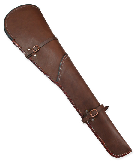 Vintage Mens Brown Leather Un-Tooled Rifle Scabbard | Romantic | Old Fashioned | Traditional | Classic || Rifle Scabbard - Sorrel Brown Leather 30/30