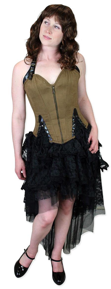 ef0543fe0 Mistress Anne Fashion Corset - Dark Brown
