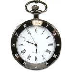 Victorian,Old West, Pocket Watches Black Alloy Quartz Watches |Antique, Vintage, Old Fashioned, Wedding, Theatrical, Reenacting Costume |